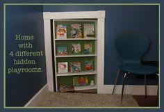 bookshelf door for basement