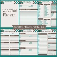 Printable Vacation Planner And Duo Binder Giveaway  Vacation