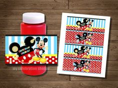 INSTANT DOWNLOAD Mickey Mouse Bubble Wrappers - Mickey Mouse Clubhouse Birthday Party Favors for Goodie Bags - My Celebration Shoppe, Diy on Etsy, $3.50