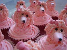 pink poodle cupcakes - too cute