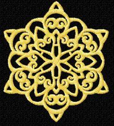 Snowflake Machine Embroidery design
