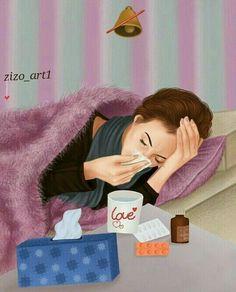 Feeling sick should be this beautiful Girly M, Sick Drawings, Girly Drawings, Lovely Girl Image, Girls Image, Girl Cartoon, Cute Cartoon, Sarra Art, Applis Photo