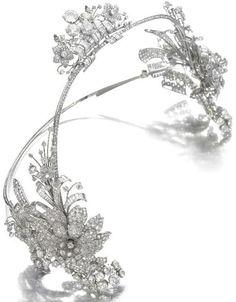 Art Deco diamond hair ornament, Cartier, circa 1930.