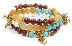 Gemstone Beaded Bracelets, Buddha bracelets, Yoga Stretch bracelets, Boho Bracelet, Womens, Handmade, Custom, Beaded Jewelry, Womens Jewelry #YogaTechniqueAndPostures