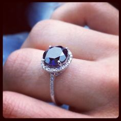 "Sapphire ring. (I'm clearly in a ""spend a ridiculous amount of time looking at pretty things on Pinterest"" kind of mood today)"