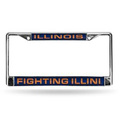 Illinois Fighting Illini NCAA Laser Chrome Frame