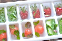 water, fruit, ice cubes, herbs, drink, ice trays, summer ice, earth, cocktails