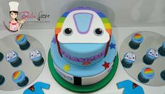 #dulceloren #Topa #juniorexpress #mesadulce #cookies #minicupcakes #torta Junior Express, Disney Junior, Mini Cupcakes, 2nd Birthday, Candy, Valentino, Kids, Characters, Parties Kids