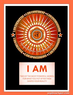 "Original design ""Sacral Chakra"" with affirmations. The Sacral Chakra or Svadhisthana in Sanskrit is the 2nd chakra located 3 inches below the navel. It is associated with the emotional body, sensuality and creativity. Wear it and become it with the power of the affirmations! Check out this design and others on tanktops, hoodies and tees at yogibeachgirl.com #yoga #yogi #yogalifestyle #yogagirl #yogaeverydamnday #namaste #affirmations"