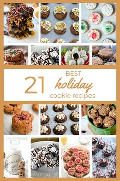 From classic, grain-free sugar cookies and paleo gingerbread cookies to peppermint quinoa balls and whole wheat spritz cookies;these are my 21 favorite holiday cookie recipes made with healthy, wholesome ingredients.