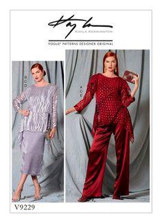 Pattern Vogue No. 9229 top, blouse, skirt, pants from Kayla Kennington|DIY Craft Supplies| - AliExpress