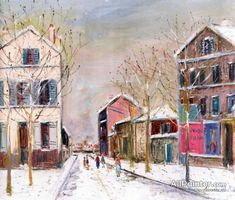 Maurice Utrillo Bourg-la-reine In The Snow oil painting reproductions for sale