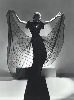 Helen Bennett, Spider Dress, 1939 by Horst P. Horst