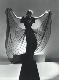 Helen Bennett, Spider Dress, 1939 by Horst P. Horst  Like a beautiful spider web! -- Eatl