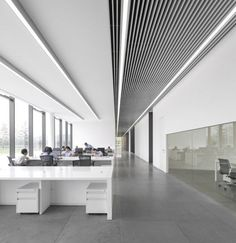 TaiwanGlass Donghai Office Building / WZWX Architecture Group | Arch Daily | Bloglovin' sufit