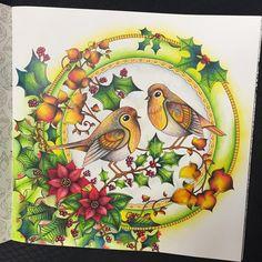 Done! ❤️ #johannaschristmas #johannabasford #johannabasfordcoloringbook