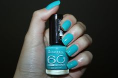 Rimmel London nail polish is 'Sky High' 60 Seconds, London Nails, Rimmel London, Sky High, Nail Polish, Products, Different Color Nails, Nail Polishes, Polish