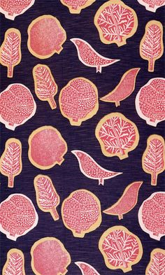 Marianne Mahler, Treetops, 1939, printed cotton and rayon furnishing fabric, printed by Edinburgh Weavers.