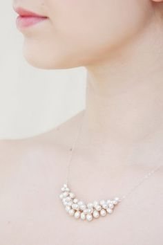 Freshwater Pearl Necklace by moderndesignsbyvkg on Etsy