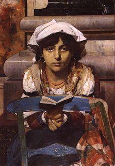 """Henrique Pousão (""""Cecília"""", 1882 - portuguese painter)"""