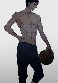 kuroko no basket, anime, and aomine image Hot Anime Boy, Anime Boys, Tv Anime, Manga Boy, Anime Boy Base, Kuroko No Basket, Aomine Kuroko, Basketball Anime, Anime Guys Shirtless