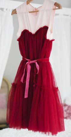 Frilly tulle dress