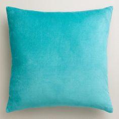 One of my favorite discoveries at WorldMarket.com: Aqua Velvet Throw Pillows