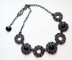 Схемы: Схема для черно-гематитового колье   -   Scheme: The scheme for black and hematite necklace