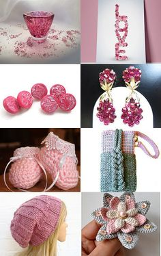 Shades of sugarplum pink by Mary Lou on Etsy--Pinned with TreasuryPin.com