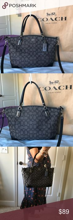"""✅✅Authentic Coach✅✅ 100% authentic coach purse  serial number : C1580-F36181 condition : excellent very clean  size : 13""""(L) x 9""""(H)  pet and smoke free home Coach Bags Shoulder Bags"""