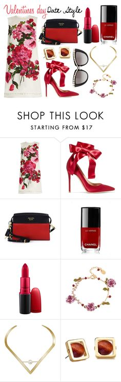 """""""Valentines style: fabulous florals"""" by fashion-freaks ❤ liked on Polyvore featuring Dolce&Gabbana, Gianvito Rossi, Prada, Chanel, MAC Cosmetics, Les Néréides, Edge of Ember, Lele Sadoughi and Anna-Karin Karlsson"""