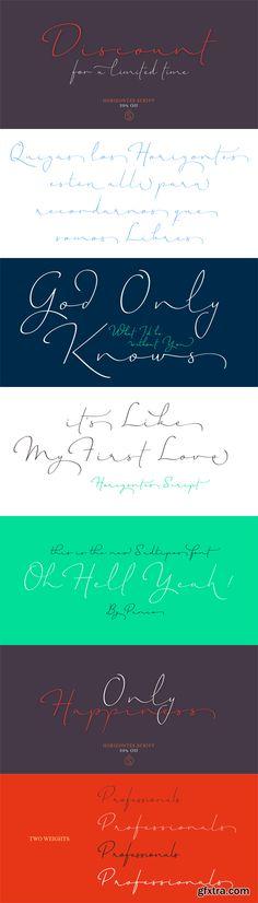 Horizontes Script Font Family - 2 Fonts for $59