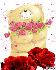 Love You Gif, Cute Teddy Bears, Love Pictures, Friends Forever, Kittens Cutest, Animals And Pets, Happy Birthday, Wallpaper, Flowers