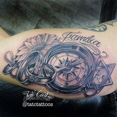 Tato Catro Compass Tattoo, Tatoo, Projects To Try, Tattoo Ideas, Men Tattoos, Anchor, Best Tattoo Ever