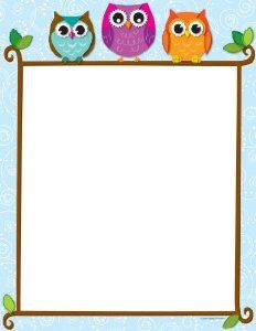 Carson Dellosa Colorful Owls on a Branch Computer Paper Use this adorable and delightful Colorful Owls on a Branch design to promote your classroom theme! So many uses to liven up projects, writing assignments, class newsletters and more! Borders For Paper, Borders And Frames, Printable Border, Free Printable, Owl Theme Classroom, Classroom Ideas, Computer Paper, Printer Paper, Teachers Aide