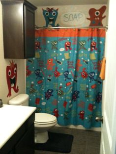 This is the shower curtain I am getting for the kid's bathroom!