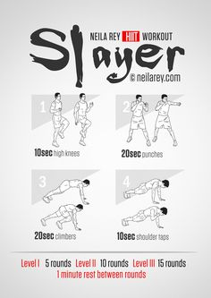 Slayer Workout | neilarey.com | #fitness #bodyweight
