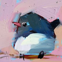 Junco no. 7 original bird oil painting by Angela Moulton