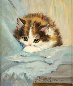 Cat paintings ~ Meta Plückebaum