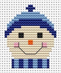 Sew Simple Frosty cross stitch kit
