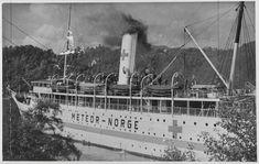 """Krigen i Norge - Bergen Bergenskes cruiseskip """"METEOR"""" som hospitalskip sommeren 1940. Institusjon: Riksarkivet * Arkivnavn: NTBs krigsarkiv"""