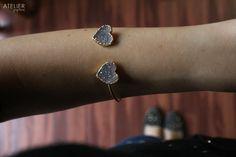 ATELIER GABY MARCOS Jewelry - Heart drusy bracelet (14k electroplated gold)  #ateliergabymarcos
