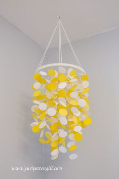 DIY Yellow and White