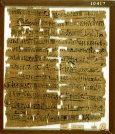 Papyrus; Hieratic epistolary text recto and verso. Late Ramesside Letter no. 14, from Amenhotep to Dhutmose, phatic.
