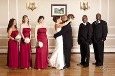Red brides maids dresses