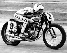 """Dick Mann 1963 Matchless G50 dirt flat track race bike 9/"""" X 12/"""" quality print"""