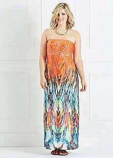 Fiery Sequin Maxi Dress