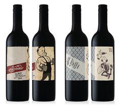 I love wine bottle labels in general.