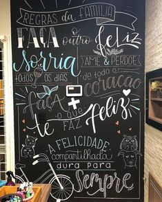 Blackboard Wall, Chalk Wall, Chalkboard Lettering, Lettering Tutorial, Banner Clip Art, Marker, Doodle Lettering, Statement Wall, Arte Floral