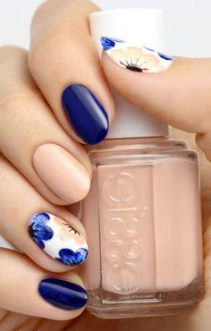 beautiful nails 2020 nail art designs for winter nail arts 2020 2020 trends 2020 floral nails nail art Nail Design Spring, Spring Nail Colors, Spring Nail Art, Winter Nail Art, Spring Nails, Fall Nails, Winter Nails, Flower Nail Designs, Fall Nail Art Designs